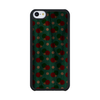 Turquoise ping pong pattern carved® walnut iPhone 5C case