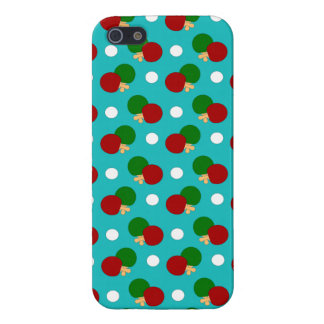 Turquoise ping pong pattern cases for iPhone 5