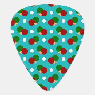 Turquoise ping pong pattern pick