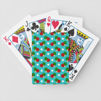 Turquoise ping pong pattern poker cards