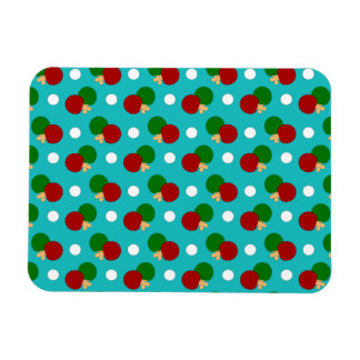 Turquoise ping pong pattern flexible magnet