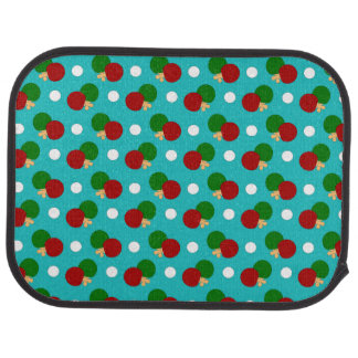 Turquoise ping pong pattern floor mat