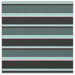 [ Thumbnail: Turquoise, Pink, Black, Dark Slate Gray & White Fabric ]