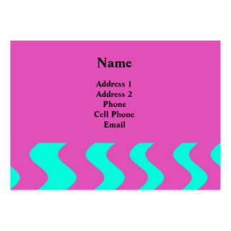 turquoise pink business card templates