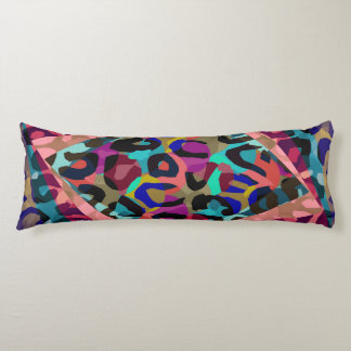 Turquoise Pink Cheetah Vector Body Pillow