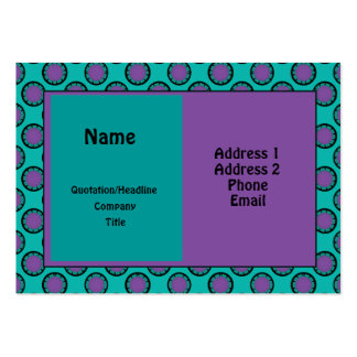 Turquoise Pink Circles Business Card Templates