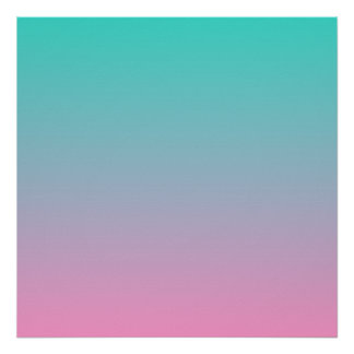 Turquoise Pink Ombre Posters