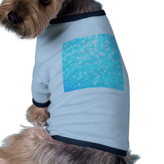 Turquoise Pixel Sparkle Dog Tee
