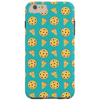 Turquoise pizza pattern tough iPhone 6 plus case