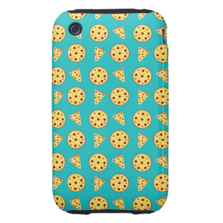 Turquoise pizza pattern iPhone 3 tough cover