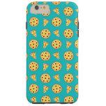 Turquoise pizza pattern tough iPhone 6 plus case