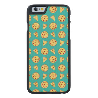 Turquoise pizza pattern carved® maple iPhone 6 slim case