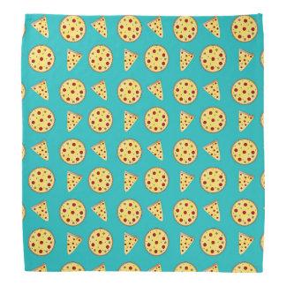 Turquoise pizza pattern bandana