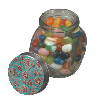 Turquoise pizza pie jelly belly candy jars