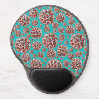 Turquoise pizza pie gel mouse pads
