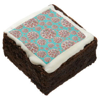 Turquoise pizza pie square brownie