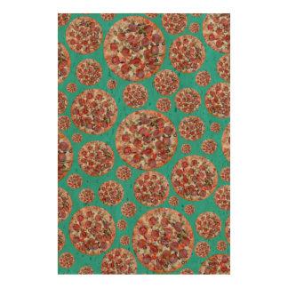 Turquoise pizza pie cork fabric