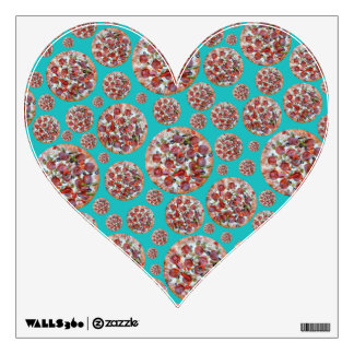 Turquoise pizza pie room decal