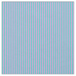 [ Thumbnail: Turquoise & Plum Colored Lined Pattern Fabric ]