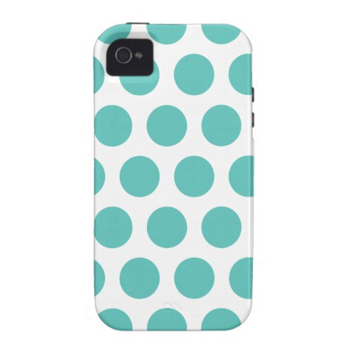 Turquoise polka dot Case-Mate iPhone 4 cover