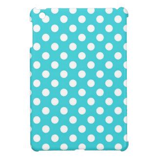 Turquoise Polka Dot iPad Mini Cover