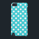 "Turquoise Polka Dot iPod Touch 5G Cover<br><div class=""desc"">This item features a bright turquoise polka dot pattern.</div>"