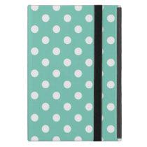 Turquoise Polka Dot Pattern iPad Mini Case