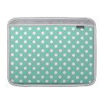 Turquoise Polka Dot Pattern MacBook Air Sleeve