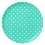 Turquoise Polka Dot Plate