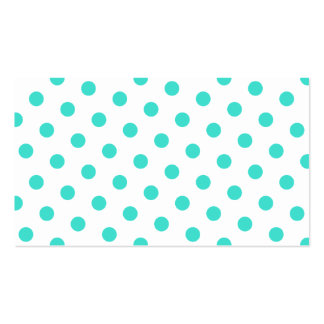 Turquoise Polka Dots Double-Sided Standard Business Cards (Pack Of 100)
