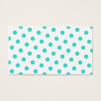 Turquoise Polka Dots Business Card