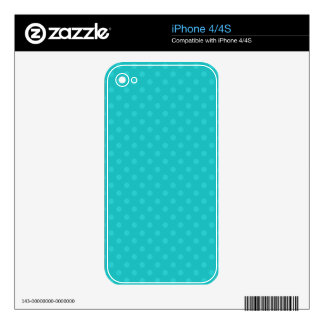 Turquoise polka dots decal for iPhone 4