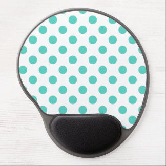 Turquoise polka dots gel mouse pad