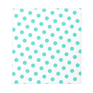 Turquoise Polka Dots Notepad