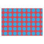 Turquoise Polka Dots Red Tissue Paper