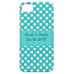 Turquoise polka dots wedding favors iPhone 5 cases