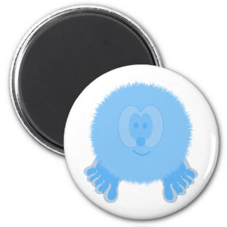 Turquoise Pom Pom Pal Magent 2 Inch Round Magnet