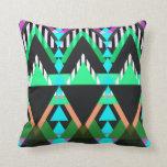 Turquoise Pop Aztec Pillows