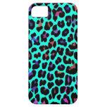 Turquoise Pop Leopard Print iPhone SE/5/5s Case