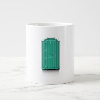 Turquoise Portable Toilet Giant Coffee Mug