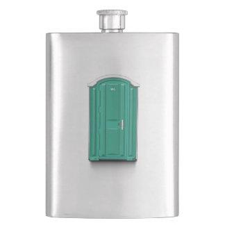 Turquoise Portable Toilet Hip Flasks