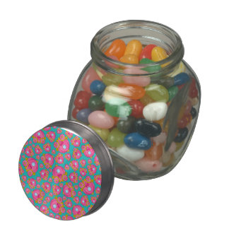 Turquoise princess carriage pattern jelly belly candy jars