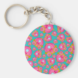 Turquoise princess carriage pattern key chains