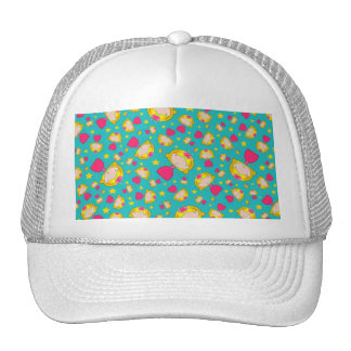 Turquoise princesses and stars mesh hat