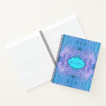 Beach Themed Turquoise Purple Abstract Notebook