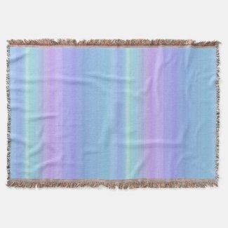 Turquoise Purple Blue Green Rainbow Throw Blanket