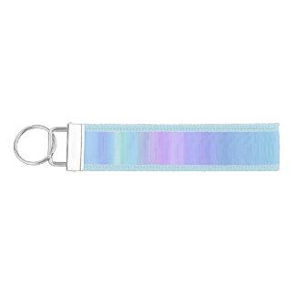 Turquoise Purple Blue Green Rainbow Wrist Keychain