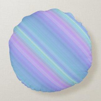 Turquoise Purple Blue Green Round Throw Pillow