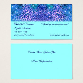 Turquoise Purple Celestial Business Card