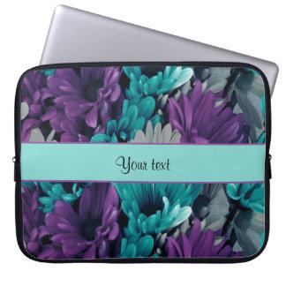 Turquoise & Purple Daisies Computer Sleeve
